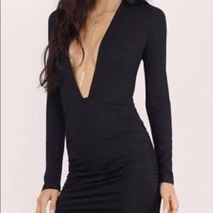 Tobi take the plunge black dress
